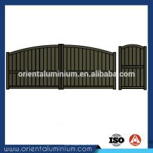 Porta de alumínio tamanho padrão do portão principal