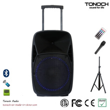 15 Inches PA Outdoor DJ Speaker with Blue LED Light