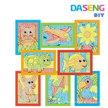 Kids Art and Craft Fun Easy Play sticky mosaic Art Activity Set