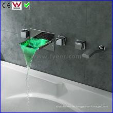 Wand- Bad- & Duscharmatur LED Badewanne Wasserhahn (FD15302WF)