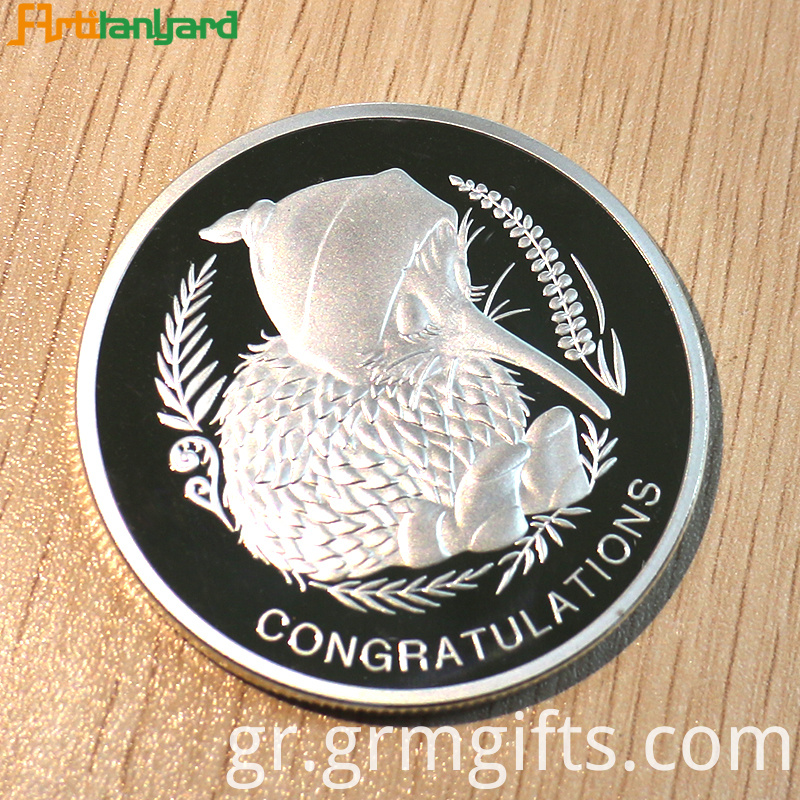 Proof Coin With Silver Plating
