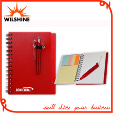 Customized PP Cover Spiral Note Pad with Pen for Promotion (PPN223)
