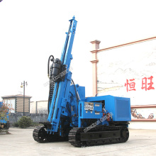 Crawler mounted solar Sliding pile driver hydraulic pile driver working on mountain