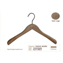 Antique Washed Used Finishing Wooden Suit Hanger Cheapest 30000PS