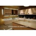 Blanco alto laca brillante gabinete de cocina de alta calidad estándar