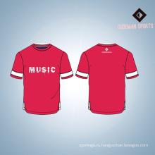 Оптовая изготовленный на заказ Логос напечатал хлопок спорт человек футболку
