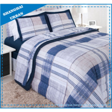 Vintage Navy Stripes Polyester Duvet Cover Bedding Set