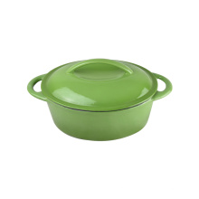 Enamel Double Use Cookware Cast Iron Rectangle Casserole