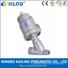 Pneumatic Power Stainless Steel Body Food Grade Angle Seat Valve For Beer