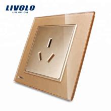 Livolo New Style Socket et Plug Prise électrique à 3 broches VL-W2C1B-13