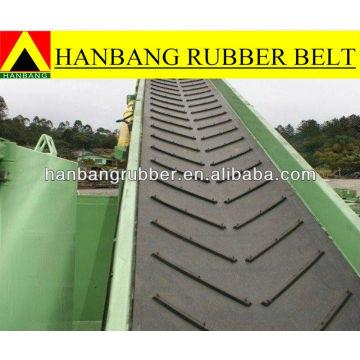 Chevron conveyor belt EP250/4PLY4+2