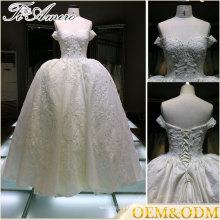 Vestido de la fabricación del hombro Una línea vestido de bola vestido de noche de las mujeres