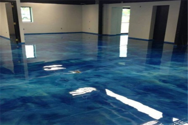epoxy floor metallic flakes