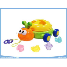 Lighting Musical Toys Turtle with Education Blocks Toys