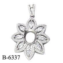 Colgante de plata esterlina de la joyería 925 de la manera sin piedra del centro