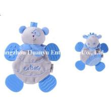 Fuente de fábrica Nuevo diseño de bebé relleno peluche Teether juguetes