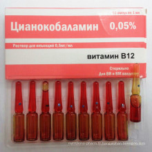Injection de cyanocobalamine, injection de vitamine B12