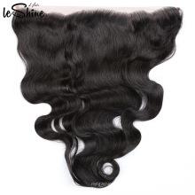 Frontal de cabello humano indio virginal alineado de la cutícula