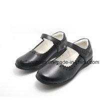 Sapatos de couro clássicos de alta qualidade estudante sapatos sapatos de vestido (ff624-1)