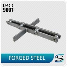Transportador de cadena de cadena de raspador de acero resistente al desgaste