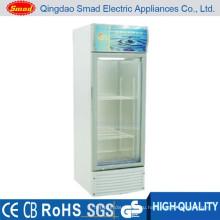 Вертикальный прозрачный холодильник/холодильник Дисплей/энергетический напиток холодильник