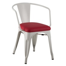 Restaurant Metal Tolix Arm Chair With Soft Pad