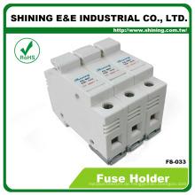 FS-033 Din Rail montiert 600V 32A 3 Pole 10x38 Porzellan Sicherungshalter