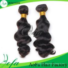 Aofa 100%Unprocessed Human Hair Wig, Remy Hair Virgin Human Hair Extension
