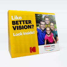 APEX Shop TableTop Yellow Sunglass Display Case Acrylic