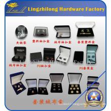 Glass Top Black Cufflinks Jewelry Display Case Box