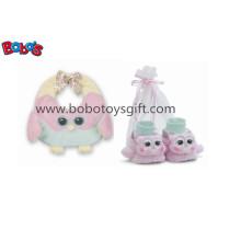Plush Soft Pink coruja bebê babador e botas Gift Set Bosw1112