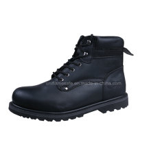 Black Leather Goodyear Men Safety Shoes