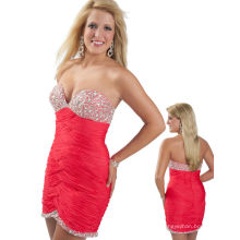 Fuchsia Sweetheart Sequined Kurzes Festzug Kleid Partykleid TP12-04S