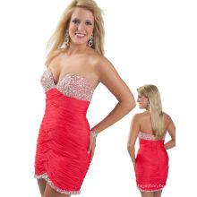 Фуксия милая блестками короткие вечернее платье ТР12-04С