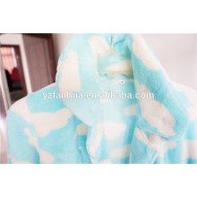 pijamas de mujer de orgánico suave paño grueso y suave azul