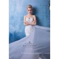 Querida vestido de casamento personalizado aberto de volta Lace sereia vestido Fishtail vestidos De noiva Vestido De Novia