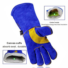Amazon Hot Selling Supplier Industrial 14 inch Safety Working Welding Hand Gloves