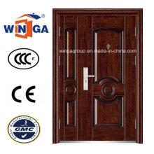 Beliebte Verkauf Sunproof Eingang Sicherheit Stahl Tür (W-SZ-04)