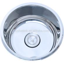 Утилита нержавеющей стали круглые или овальные раковины для ванной комнаты и туалета