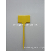 Yellow Garden plastic plant TL labels
