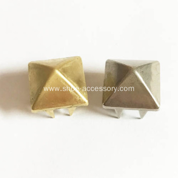 Medium Brass Pyramid Studs for Leathercrafts