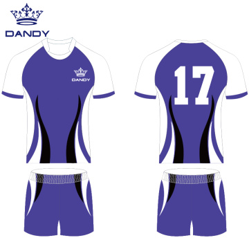 Original Custom Team Schwarzes Rugby-Shirt