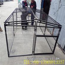 Продажа Черная клетка любимчика, клетка собаки металла с ABS лоток