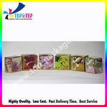 Colorful Folding Style Body Cream Packaging Card Box