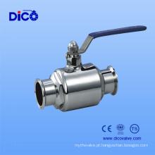 Válvula de esfera de grau alimentar com extremidade de braçadeira para marca Dico