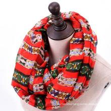 New arrival womoen quality high soft print circle loop funky custom logo infinity scarf