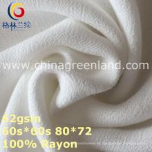 Tela de teñido tejida del crespón del rayón del 100% para la ropa de la mujer (GLLML370)