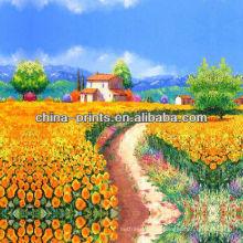 Красочный цветок тюльпана живопись на холсте