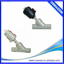 Vanne de siège angulaire actionneur en plastique, pour l'air, l'eau, le gaz, la vapeur, l'huile