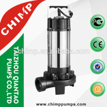 CHIMP V1300D 2 hp stainless steel sewage submersible electric water pump with cutting system